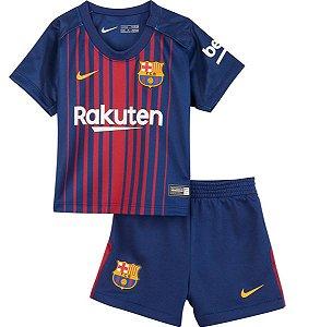 Kit oficial infantil Nike Barcelona 2017 2018 I jogador