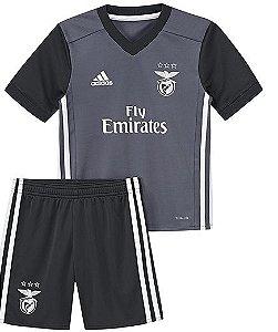Kit oficial infantil Adidas Benfica  2017 2018 II jogador