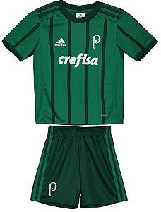 Kit infantil oficial Adidas Palmeiras 2017 I jogador