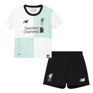 Kit infantil oficial New Balance Liverpool  2017 2018 II jogador