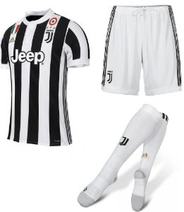 Kit adulto oficial adidas Juventus 2017 2018 I jogador