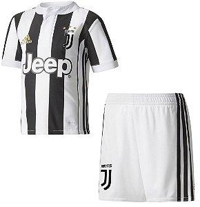 Kit infantil oficial Adidas Juventus 2017 2018 I jogador