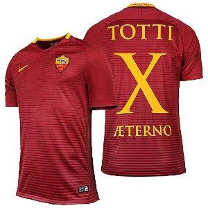 Camisa oficial Nike Roma 2016 2017 I jogador Totti x Aeterno