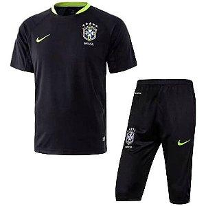 Kit pre jogo oficial seleção do Brasil 2017 preto