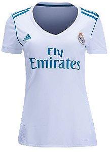 Camisa Feminina oficial Adidas Real Madrid 2017 2018 I