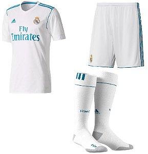 Kit adulto oficial adidas Real Madrid 2017 2018 I jogador