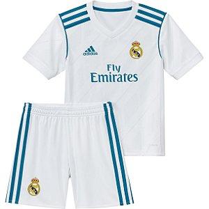 Kit infantil oficial Adidas Real Madrid  2017 2018 I jogador