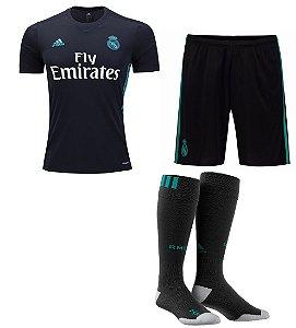 Kit adulto oficial adidas Real Madrid 2017 2018 II jogador