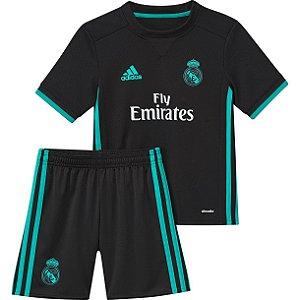 Kit infantil oficial Adidas Real Madrid  2017 2018 II jogador