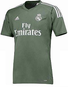 Camisa oficial Adidas Real Madrid 2017 2018 I Goleiro