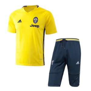 Kit pre jogo oficial Adidas Juventus 2017 2018 amarelo