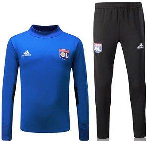 Kit treinamento oficial Adidas Lyon 2017 2018 azul