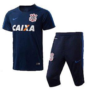 Kit pre jogo oficial Nike Corinthians 2017 Azul