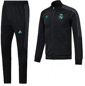 Kit treinamento oficial Adidas Real Madrid 2017 2018 Preto