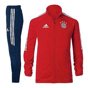 Kit treinamento oficial Adidas Bayern de Munique 2017 2018 Azul e Vermelho