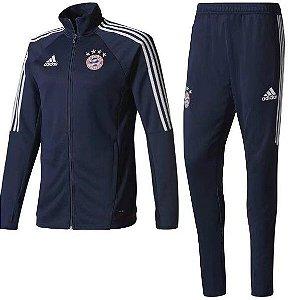 Kit treinamento oficial Adidas Bayern de Munique 2017 2018 Azul