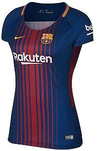 Camisa feminina oficial Nike Barcelona 2017 2018 I