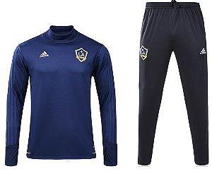 Kit pre jogo oficial Adidas Los Angeles Galaxy 2017 Azul