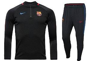 Kit treinamento oficial Nike Barcelona 2017 2018 Preto