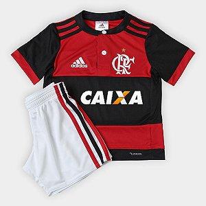 Kit infantil oficial adidas Flamengo 2017 I jogador