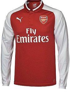 Camisa oficial Puma Arsenal 2017 2018 I jogador manga comprida