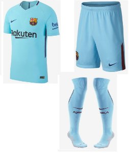 Kit adulto oficial Nike Barcelona 2017 2018 II jogador