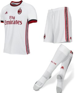 Kit adulto oficial adidas Milan 2017 2018 II jogador