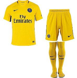 Kit adulto oficial Nike PSG 2017 2018 II jogador