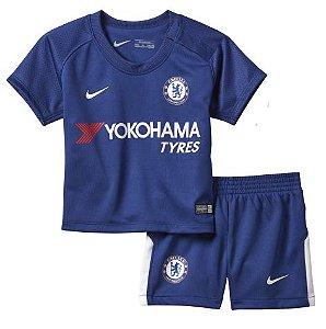 Kit oficial infantil Nike Chelsea 2017 2018 I jogador