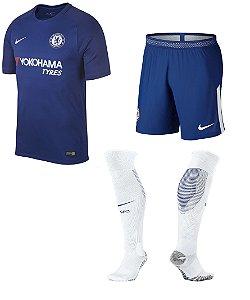 Kit adulto oficial Nike Chelsea 2017 2018 I jogador