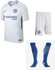Kit adulto oficial Nike Chelsea 2017 2018 II jogador