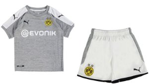 Kit oficial infantil Puma Borussia Dortmund 2017 2018 III jogador