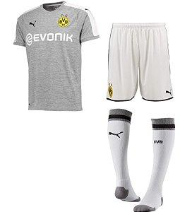 Kit adulto oficial Puma Borussia Dortmund 2017 2018 III jogador