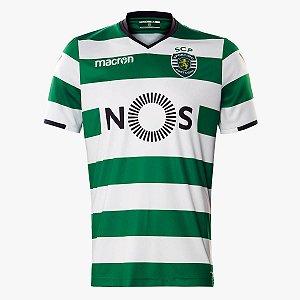 Camisa oficial Macron Sporting Lisboa 2017 2018 I jogador
