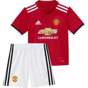 Kit infantil oficial adidas Manchester United 2017 2018 I jogador