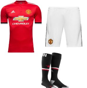 Kit adulto oficial adidas Manchester United 2017 2018 I jogador
