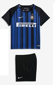 Kit  infantil oficial Nike Inter de Milão 2017 2018 I jogador