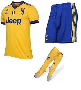 Kit adulto oficial adidas Juventus 2017 2018 II jogador
