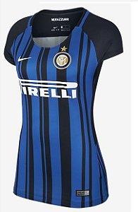 Camisa feminina oficial Nike Inter de Milão 2017 2018 I