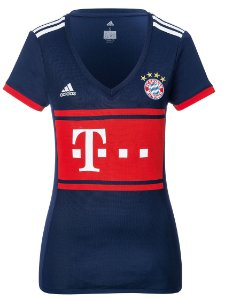 Camisa feminina oficial Adidas Bayern de Munique 2017 2018 II