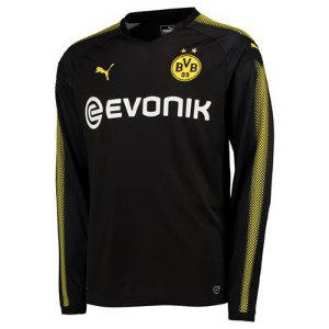 Camisa oficial Puma Borussia Dortmund 2017 2018 II jogador manga comprida