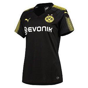 Camisa feminina Puma Borussia Dortmund 2017 2018 II