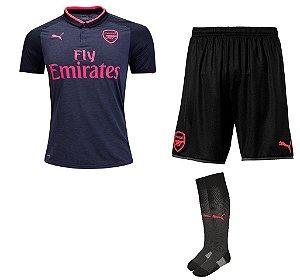 Kit adulto oficial Puma Arsenal 2017 2018 III jogador