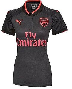 Camisa feminina oficial Puma Arsenal 2017 2018 III