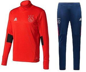 Kit treinamento oficial Adidas Ajax 2017 2018 vermelho e azul