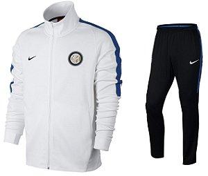Kit treinamento oficial Nike Inter de Milão 2017 2018 Branco e preto