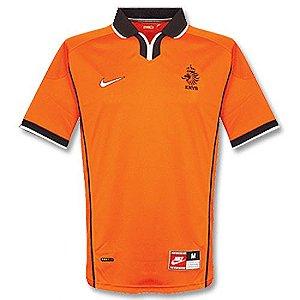 Camisa retro Nike seleção da Holanda I jogador Copa do mundo 1998