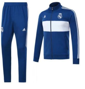 Kit treinamento oficial Adidas Real Madrid 2017 2018 azul