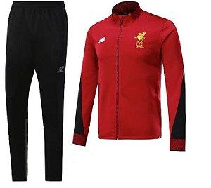 Kit treinamento oficial New Balance Liverpool 2017 2018 vermelho e preto