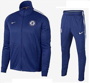 Kit treinamento oficial Nike Chelsea 2017 2018 Azul e branco